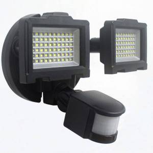 RDK Products Nature Power Solar Motion-Activated 120 LED Dual Head Security Light
