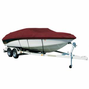 Covermate Sharkskin Plus Exact-Fit Cover for Correct Craft Air Nautique 206 Air Nautique 206 W/Tower Covers Swim Platform. Burgundy