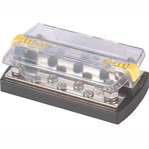 "Blue Sea Systems Blue Sea DualBus 150-Amp Common Busbar - (5) #10-32 Screws, (2) 5/16""-18 Studs"