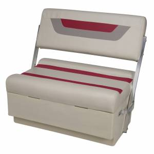 Toonmate Designer Flip-Flop Seat - TOP ONLY - Platinum/Dark Red/Mocha