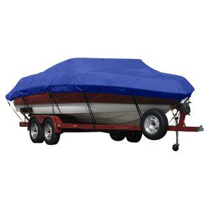 Covermate Exact Fit Covermate Sunbrella Boat Cover for Bennington 2875 Rlx Super Sport 2875 Rlx Super Sport Bimini Laid Down O/B. Ocean Blue