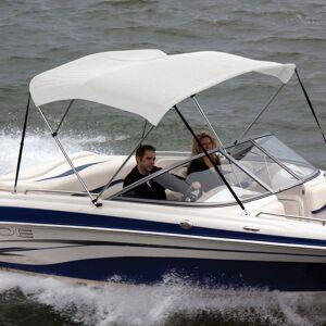 "Shademate Sunbrella Stainless 3-Bow Bimini Top 6'L x 46""H 67""-72"" Wide"