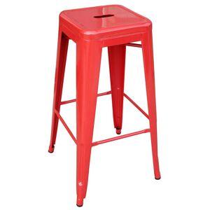 "Buffalo AmeriHome 30"" Loft Metal Bar Stool, Red"