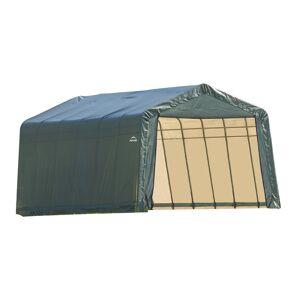 ShelterLogic ShelterCoat Peak Shelter, 13'W x 28'L x 10'H, Green