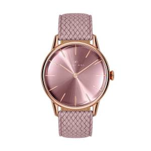 August Berg - August Berg Serenity Rosegold Classic Ash & Orchid - Orchid Perlon 32mm