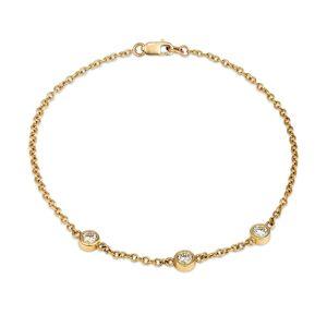 Serafin Jewellery - Three Diamond & Gold Étoile Bracelet