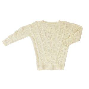 Stick & Ball - Alpaca Sarah Cable Sweater - Cream