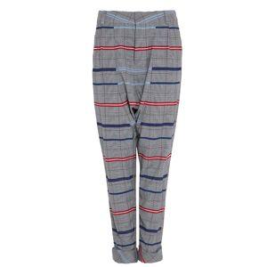 DANEH - Drop Crotch Plaid Pants