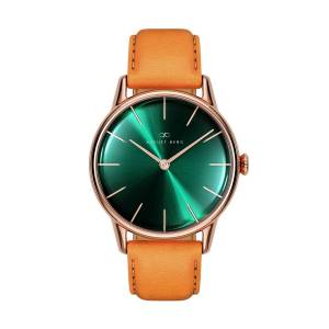 August Berg - August Berg Serenity Rosegold Classic Greenhill - Light Brown Leather 32mm