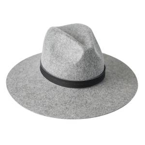 Zenzee - Scottie Wide Brim Fedora Hat - Gray