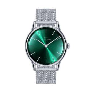 August Berg - August Berg Serenity Greenhill Silver Classic - Silver Mesh 32mm