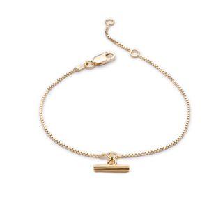 Jackson Rachel Jackson London - Mini Gold T-Bar Bracelet