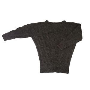 Stick & Ball - Alpaca Sarah Cable Sweater - Chocolate