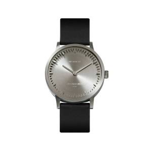 LEFF amsterdam - Leff Amsterdam T32 Watch With Stainless Steel Case & Black Leather Strap
