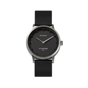 LEFF amsterdam - Leff Amsterdam T32 Watch With Stainless Steel Case Black Dial & Black Leather Strap