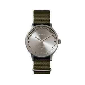 LEFF amsterdam - Leff Amsterdam T32 Watch With Stainless Steel Case & Green Nato Strap