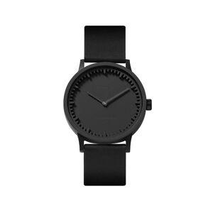 LEFF amsterdam - Leff Amsterdam Tube Watch - T32 Black Ip Case Black Leather Strap