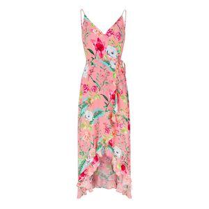 SaintBy - Pink Flowers Midi Viscose Diana Dress