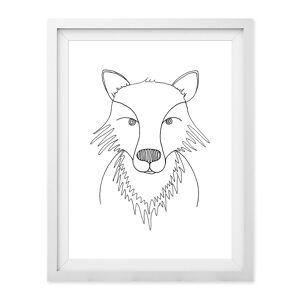 Baldy And The Fidget - Line Fox Giclée Print