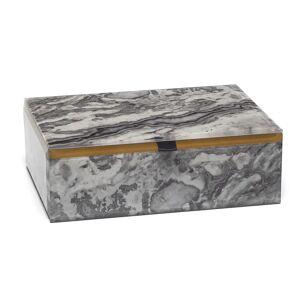 Lola Rose London - Stone Print Treasure Box Grey Picasso Jasper