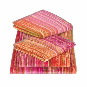 Elaiva - Pink Grass Five Piece Bath Towel Set