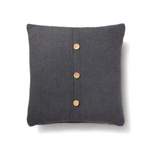 Luks Linen - Stone Cotton Cushion In Ink