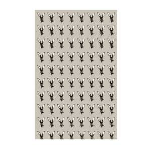 Dwelling Bird - Jackrabbit Tea Towel Dusted Stone