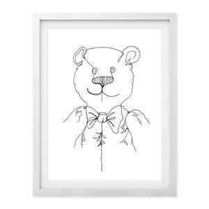 Baldy And The Fidget - Line Bear Giclée Print