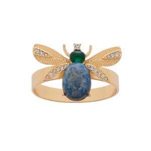 Joanna Buchanan - Etched Wing Bug Skinny Napkin Rings - Lapis Lazuli Set Of Four