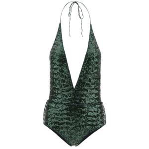 OSÉREE MID-SEQUIN ONE-PIECE SWIMSUIT S Green