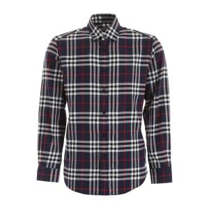 Burberry CHAMBERS SHIRT S Blue, White, Red Cotton