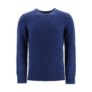 A.P.C. DIEGO CREWNECK SWEATER XL Blue Wool