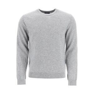 A.P.C. CASHMERE SWEATER XL Grey Cashmere