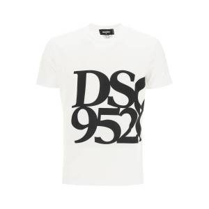 DSQUARED2 ANNIVERSARY T-SHIRT WITH DSQ 95/20 PRINT S White, Black Cotton