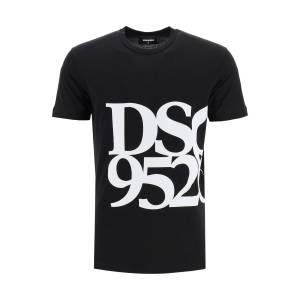 DSQUARED2 ANNIVERSARY T-SHIRT WITH DSQ 95/20 PRINT S Black, White Cotton