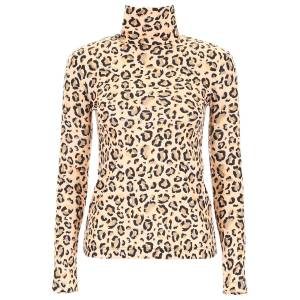 ROKH LEOPARD-PRINTED TOP 38 Beige, Black, Yellow Technical
