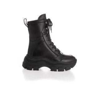 PRADA WOMEN'S 1U730LF0753B4ZF0002 BLACK LEATHER ANKLE BOOTS