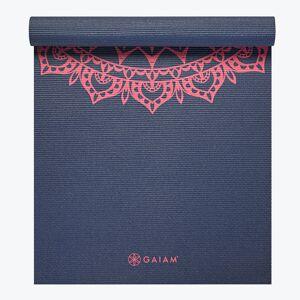 Gaiam Navy Fleur Marrakesh Yoga Mat (4mm)