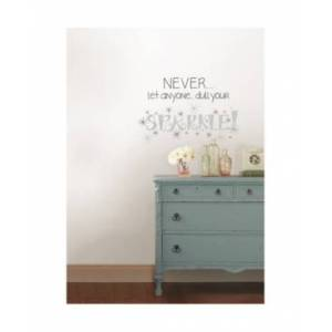 Brewster Home Fashions Dull Your Sparkle Wall Quote