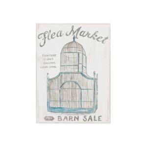 "Trademark Global Sue Schlabach White Barn Flea Market Iii Canvas Art - 36.5"" x 48""  - Multi"