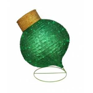 """Northlight 36"""" Led Lighted Twinkling Green Glitter Onion Ornament Christmas Outdoor Decoration  - Green"""