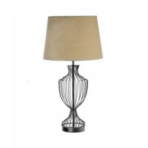 Crystal Art Gallery American Art Decor Cage Table Lamp with Drum Shade