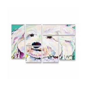 "Trademark Global Pat Saunders-White Buttons Multi Panel Art Set 6 Piece - 49"" x 19""  - Multi"