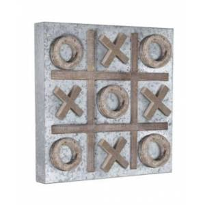 Crystal Art Gallery American Art Decor Magnetic Tic Tac Toe Wood Game Board