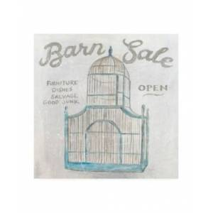 "Trademark Global Sue Schlabach White Barn Flea Market V Canvas Art - 19.5"" x 26""  - Multi"
