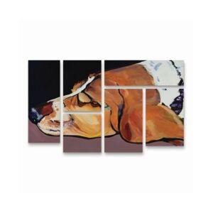 "Trademark Global Pat Saunders-White Farley Multi Panel Art Set 6 Piece - 49"" x 19""  - Multi"