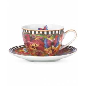 Lenox Melli Mello Eliza Stripe Collection 2-Pc. Cup & Saucer Set, Exclusively available at Macy's  - White