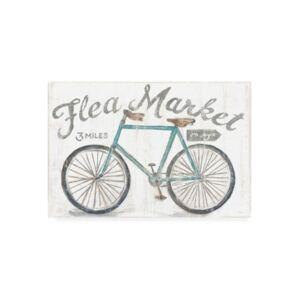 "Trademark Global Sue Schlabach White Barn Flea Market I Canvas Art - 36.5"" x 48"""