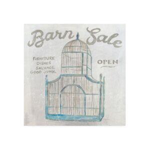 "Trademark Global Sue Schlabach White Barn Flea Market V Canvas Art - 36.5"" x 48""  - Multi"