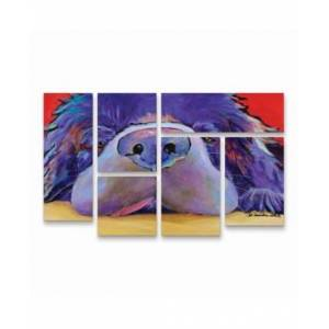 "Trademark Global Pat Saunders-White Graysea Multi Panel Art Set 6 Piece - 49"" x 19""  - Multi"